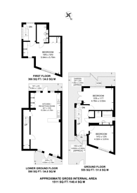 Large floorplan for Faversham Road, Catford, SE6