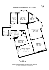 Large floorplan for Fortis Green, Muswell Hill, N10
