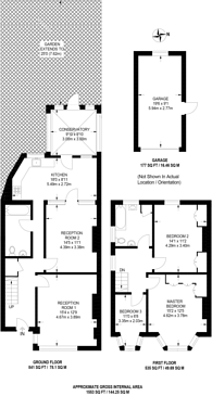 Large floorplan for Arnos Road, Arnos Grove, N11