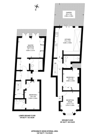 Large floorplan for Rowallan Road, Fulham, SW6