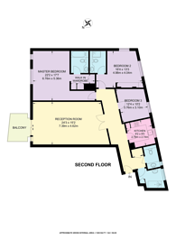 Large floorplan for Richbourne Court, Marylebone, W1H
