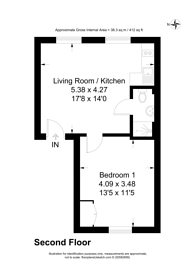 Large floorplan for Kempsford Gardens, Earls Court, SW5