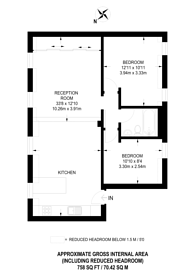 Large floorplan for Imperial House, Fulham Broadway, SW6