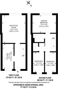 Large floorplan for Coppin House, Brixton, SW2