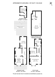 Large floorplan for Perran Road, Tulse Hill, SW2