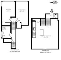 Large floorplan for Bunhill Row, Clerkenwell, EC1Y