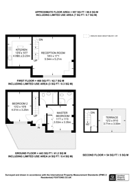 Large floorplan for Avening Terrace, Putney, SW18