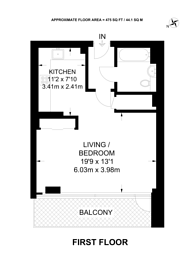 Large floorplan for White and Green, Bethnal Green, E1