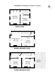 Large floorplan for Irving Grove, Stockwell, SW9