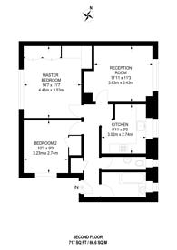 Large floorplan for Kelmscott Gardens, Wendell Park, W12