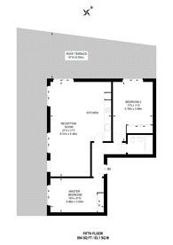 Large floorplan for Ratcliffe Cross Street, Limehouse, E1
