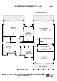 Large floorplan for Merano Residence, Albert Embankment, SE1