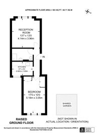 Large floorplan for Trinity Road, Wandsworth Common, SW17