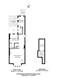 Large floorplan for Courtfield Road, South Kensington, SW7