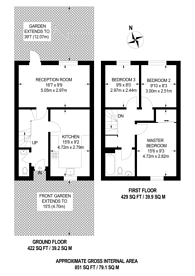 Large floorplan for Kendal Close, Oval, SW9