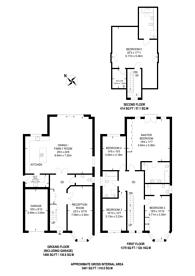 Large floorplan for Coley Avenue, Woking, GU22