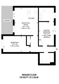 Large floorplan for Pelling Street, Poplar, E14