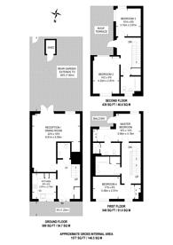 Large floorplan for Galleons Drive, Barking, IG11