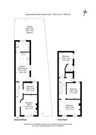 Large floorplan for Holbeck Row, Peckham, SE15