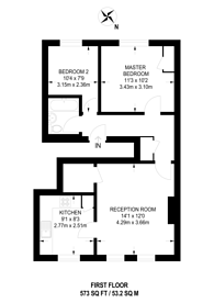 Large floorplan for Oxford Road, Maida Vale, NW6