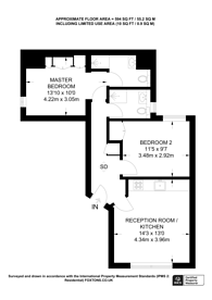 Large floorplan for Allitsen Road, St John's Wood, NW8