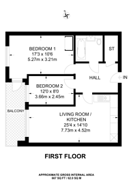 Large floorplan for High Street, Central Purley, CR8