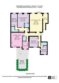 Large floorplan for Queens Gate, South Kensington, SW7