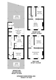 Large floorplan for Glengall Grove, Canary Wharf, E14