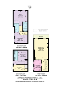 Large floorplan for Trident Place, Kings Road, SW3