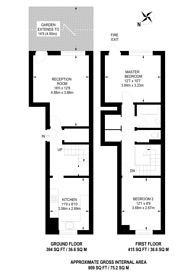 Large floorplan for Salisbury Close, Elephant and Castle, SE17