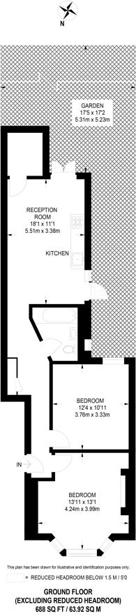 Large floorplan for Tunley Road, Harlesden, NW10