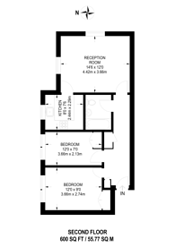 Large floorplan for Vicars Bridge Close, Alperton, HA0