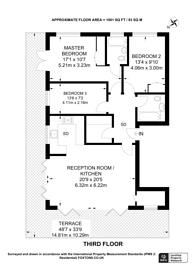 Large floorplan for Ewell Road, Surbiton, KT6