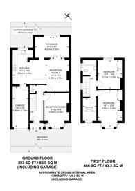 Large floorplan for Whitton Avenue East, Sudbury, UB6