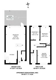 Large floorplan for Hare Walk, Hoxton, N1