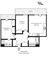 Large floorplan for Scott Avenue, Putney, SW15