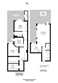 Large floorplan for Woodborough Road, Putney, SW15