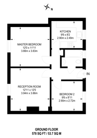 Large floorplan for Westcroft Way, Cricklewood, NW2