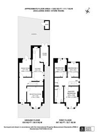Large floorplan for Woodlands Road, Harrow, HA1