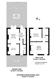 Large floorplan for Abbotsbury Road, Morden, SM4
