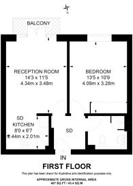 Large floorplan for Westcombe Park Road, Blackheath, SE3