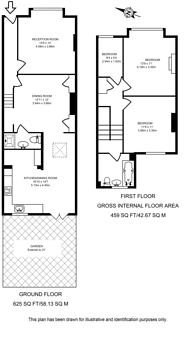 Large floorplan for Evelyn Road, Wimbledon, SW19