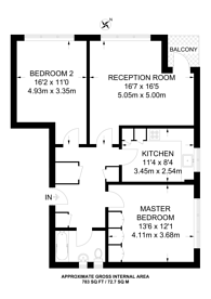 Large floorplan for Temple Fortune Lane, Hampstead Garden Suburb, NW11