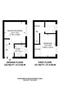Large floorplan for Ashbury Crescent, Merrow, GU4