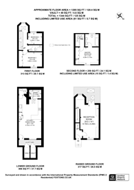 Large floorplan for Junction Place, Paddington, W2