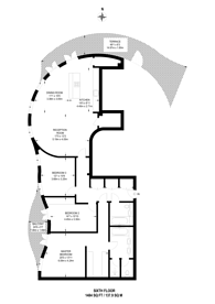 Large floorplan for Islington Square, Angel, N1
