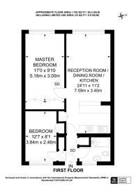 Large floorplan for Strutton Ground, Westminster, SW1P