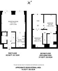 Large floorplan for Cadogan Road, Woolwich, SE18