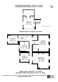 Large floorplan for Evelyn Gardens, South Kensington, SW7