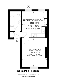 Large floorplan for Camberwell Road, Camberwell, SE5